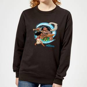 Moana Wave Women's Sweatshirt - Black