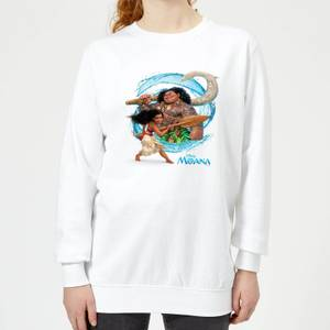 Sweat Femme Vague Vaiana, la Légende du bout du monde Disney - Blanc