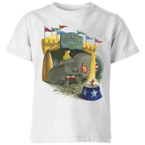 Dumbo Circus Kids' T-Shirt - White