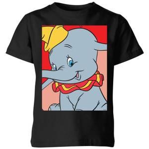 T-Shirt Enfant Portrait Dumbo Disney - Noir