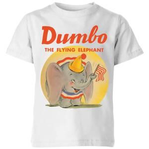 T-Shirt Enfant Flying Eléphant Vintage Dumbo Disney - Blanc