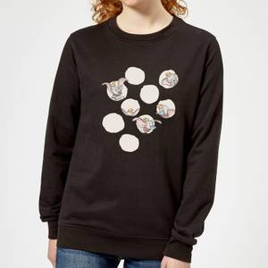 Dumbo Peekaboo Women's Sweatshirt - Black