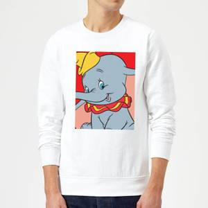 Sweat Homme Portrait Dumbo Disney - Blanc