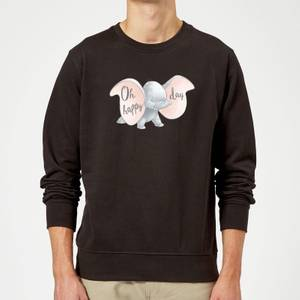 Sweat Homme Happy Day Dumbo Disney - Noir