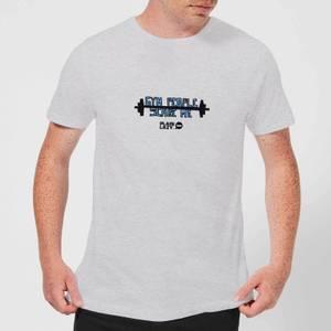 Plain Lazy Gym People Scare Me Men's T-Shirt - Grey