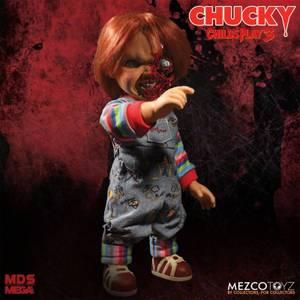 Mezco Child's Play Pizza Face Chucky Talking Mega-Scale 15 Inch Doll