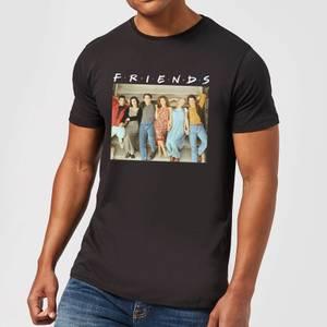 Friends Retro Character Shot Men's T-Shirt - Black