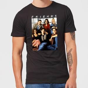 Friends Vintage Character Shot Men's T-Shirt - Black