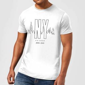 T-Shirt Homme Skyline New York - Friends - Blanc