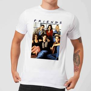 Friends Vintage Character Shot Men's T-Shirt - White