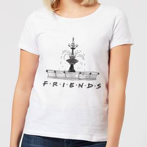 Friends Fountain Sketch Women's T-Shirt - White