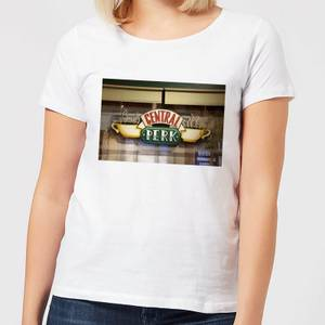 Friends Central Perk Coffee Sign Damen T-Shirt - Weiß