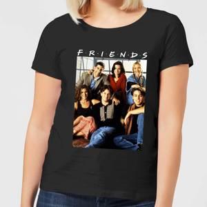Friends Vintage Character Shot Women's T-Shirt - Black