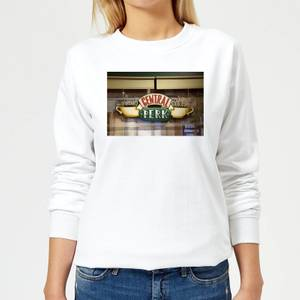 Friends Central Perk Coffee Sign Women's Sweatshirt - White