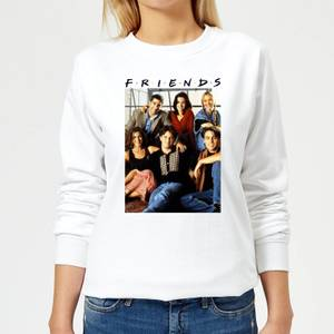 Friends Vintage Character Shot Women's Sweatshirt - White