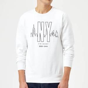 Friends NY Skyline Sweatshirt - White