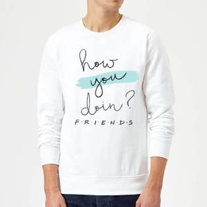 Sweat Homme How You Doin? - Friends - Blanc