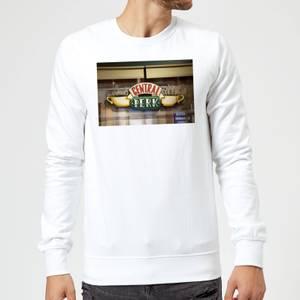 Friends Central Perk Coffee Sign Sweatshirt - White