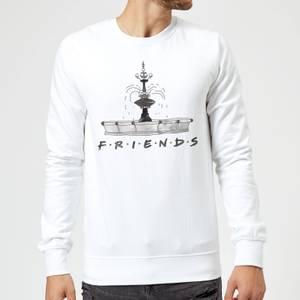 Friends Fountain Sketch Sweatshirt - White