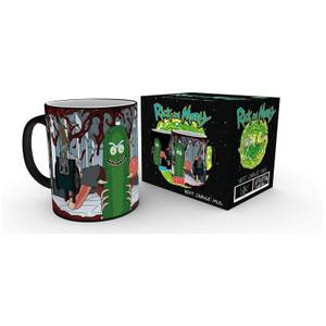 Rick and Morty Pickle Rick Heat Change Mug