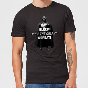 Star Wars Eat Sleep Rule The Galaxy Repeat Men's T-Shirt - Black