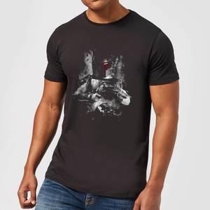 T-Shirt Homme Boba Fett Effet Abîmé Star Wars Classic - Noir