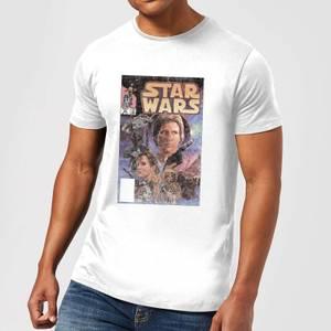 Star Wars Classic Classic Comic Book Cover Herren T-Shirt - Weiß