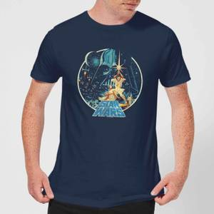 Star Wars Vintage Victory Men's T-Shirt - Navy