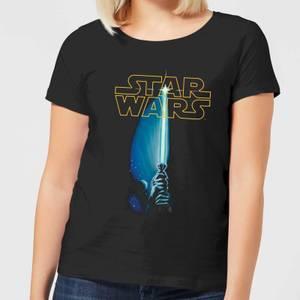 Star Wars Classic Lightsaber Damen T-Shirt - Schwarz