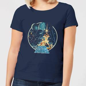Star Wars Vintage Victory Women's T-Shirt - Navy