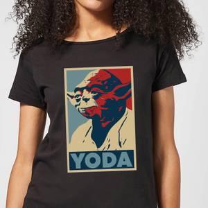 T-Shirt Femme Poster Yoda Star Wars Classic - Noir