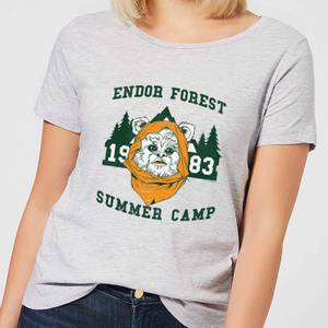 T-Shirt Femme Camp Endor Star Wars Classic - Gris