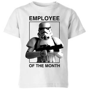 T-Shirt Enfant Employé du Mois Star Wars Classic - Blanc