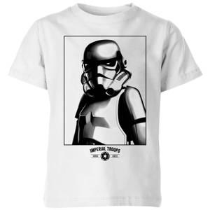 T-Shirt Enfant Imperial Troops Star Wars Classic - Blanc