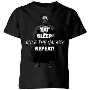 Star Wars Eat Sleep Rule The Galaxy Repeat Kids' T-Shirt - Black