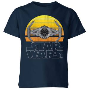 T-Shirt Enfant Sunset Tie Star Wars Classic - Bleu Marine
