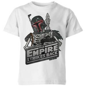 T-Shirt Enfant Boba Fett Skeleton Star Wars Classic - Blanc