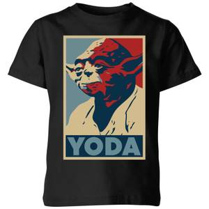 Star Wars Classic Yoda Poster Kinder T-Shirt - Schwarz