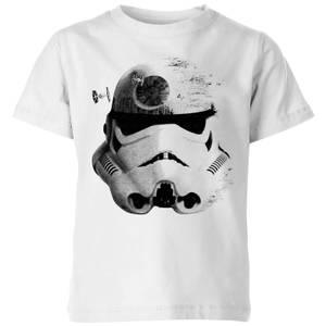 Star Wars Classic Command Stromtrooper Death Star Kinder T-Shirt - Weiß