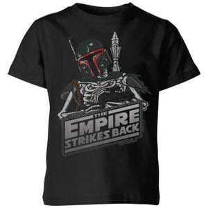 Star Wars Classic Boba Fett Skeleton Kinder T-Shirt - Schwarz