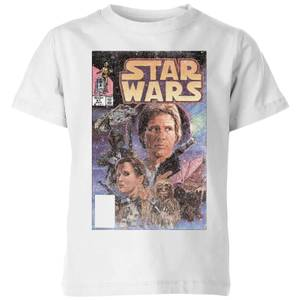Star Wars Classic Comic Book Cover Kids' T-Shirt - White