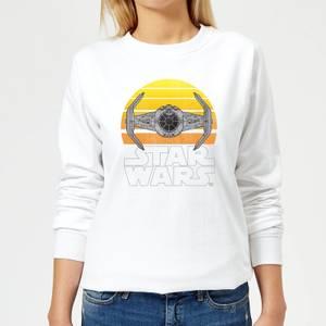 Star Wars Sunset Tie Women's Sweatshirt - White
