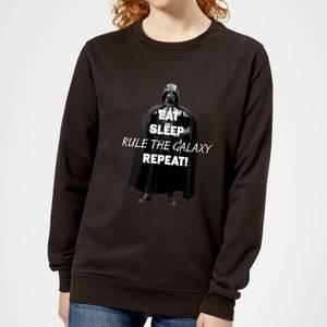 Star Wars Eat Sleep Rule The Galaxy Repeat Women's Sweatshirt - Black