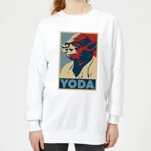 Sweat Femme Poster Yoda Star Wars Classic - Blanc