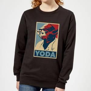 Star Wars Yoda Poster Women's Sweatshirt - Black