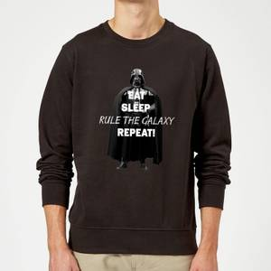 Star Wars Eat Sleep Rule The Galaxy Repeat Sweatshirt - Black