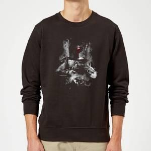 Star Wars Classic Boba Fett Distressed Pullover - Schwarz