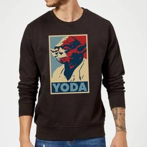 Star Wars Yoda Poster Sweatshirt - Black