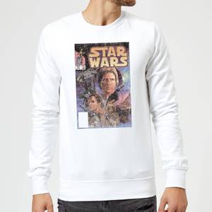 Star Wars Classic Comic Book Cover Sweatshirt - White