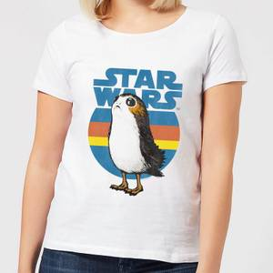 T-Shirt Femme Porg Star Wars - Blanc